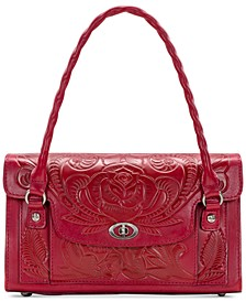 Waxed Tooled Leather Sanabria Satchel