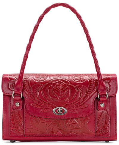 Patricia Nash Waxed Tooled Leather Sanabria Satchel