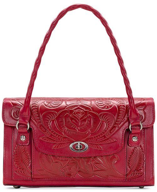Patricia Nash Waxed Tooled Leather Sanabria Satchel
