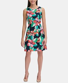 Tommy Hilfiger Petite Floral Eyelet Dress