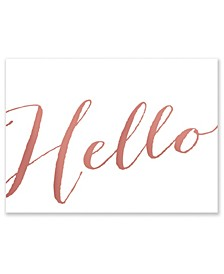 Hello Note Boxed Cards