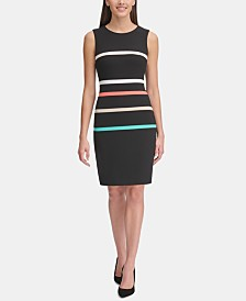Tommy Hilfiger Multicolored Stripe Sheath Dress