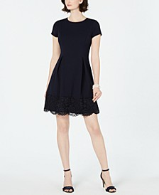 Petite Lace-Edge A-Line Dress