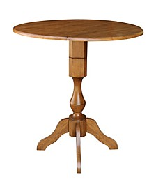 "42"" Round Dual Drop Leaf Table 36.3"" H"