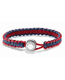Tommy Hilfiger Men's Stainless Steel Braided Fabric Bracelet