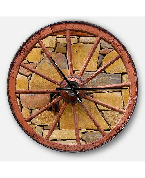 Design Art Designart Oversized Rustic Round Metal Wall Clock