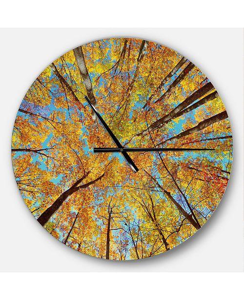 Design Art Designart Oversized Forest Round Metal Wall Clock