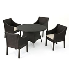 Franco Outdoor 5-Pc. Dining Set, Quick Ship