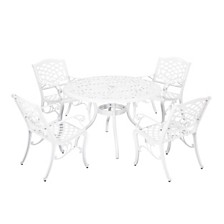 Phoenix Outdoor 5pc Dining Set, Quick Ship
