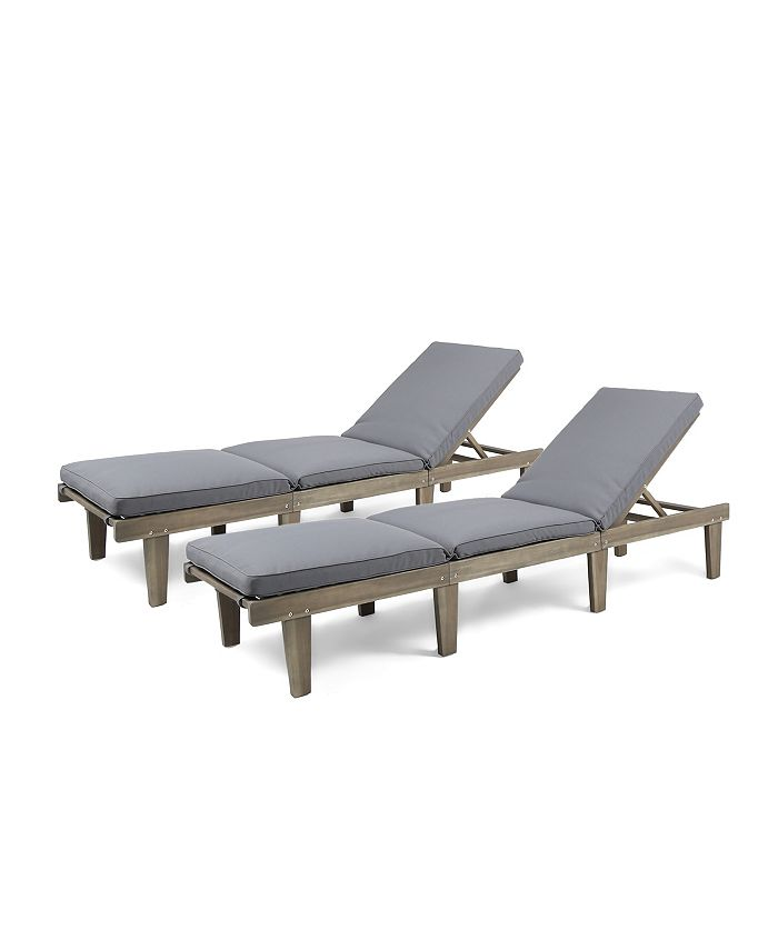 Noble House - Ariana Outdoor Chaise Lounge, Quick Ship (Set of 2)