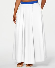Rebdolls Godess Pleated Maxi Skirt by The Workshop at Macy's, Regular & Plus Sizes