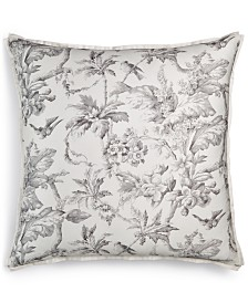 Hotel Collection Classic Botanical Toile Cotton European Sham, Created for Macy's
