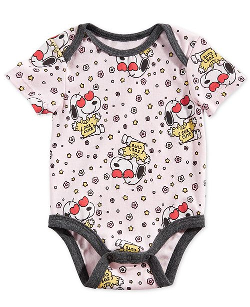 Peanuts Collection Baby Boys Joe Cute Snoopy-Print Bodysuit