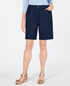 Karen Scott Petite Skimmer Shorts, Created for Macy's