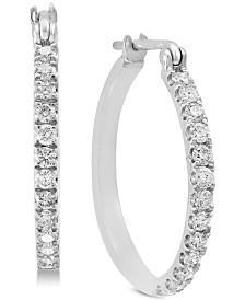 EFFY® Diamond Hoop Earrings (1/2 ct. t.w.) in 14k White Gold