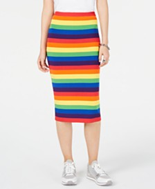 MICHAEL Michael Kors Rainbow-Striped Pencil Skirt