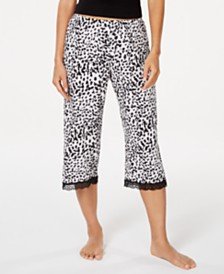 Cosabella Majestic Lace-Trim Printed Sleep Pants, Online Only