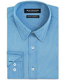 Nick Graham Men's Slim-Fit Pin-Dot Shirt