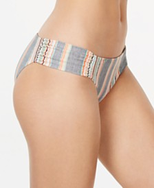 Lucky Brand Cali Casual Printed Shirred Hipster Bottoms