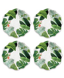 Tarhong Amazon Floral Dinner Plate, Set of 4