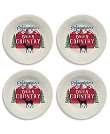 "Vintage Lodge Deer Country Salad Plate, 8.5"", Melamine, Set of 6"