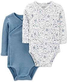 Baby Boys 2-Pack Side-Snap Printed Bodysuits