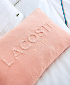 """Lacoste Embossed Decorative Pillow 12"""" X 18"""""""