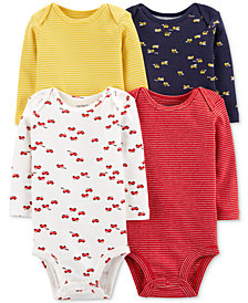 Carter's Baby Boys 4-Pack Printed Cotton Bodysuits