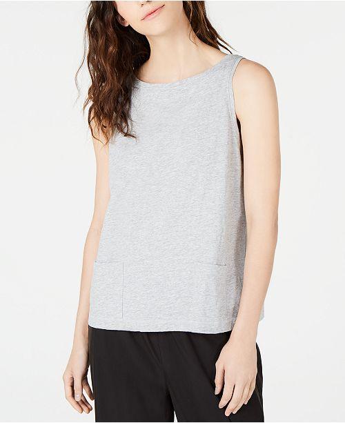 Eileen Fisher Organic Cotton Front Pocket Sleeveless Top