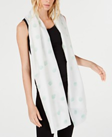 Eileen Fisher Polka-Dot Scarf