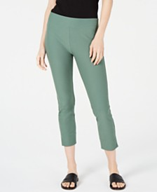 Eileen Fisher Slim Washable Crepe Cropped Pants, Regular & Petite