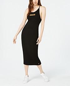 Alex Logo-Print Midi Dress
