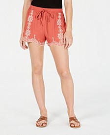 Juniors' Embroidered Shorts