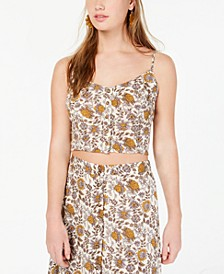 Juniors' Floral-Print Cropped Tank Top