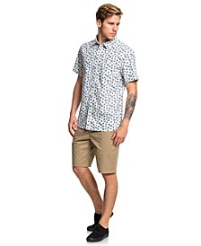 Minimal Flower Short Sleeve Shirt
