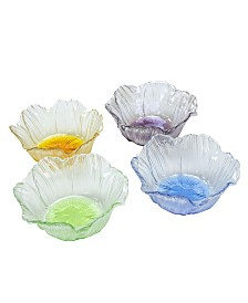 Dessert Bowls With Assorted Colors, Set Of 4