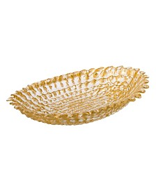 Gold Beveled Oval Bowl, Small