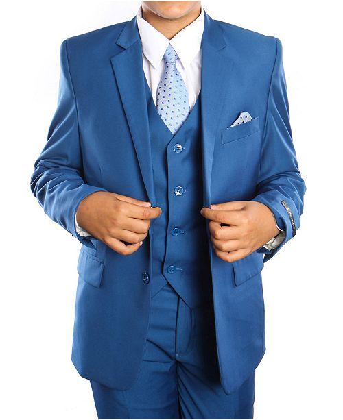 Tazio Solid 2 Button Vested Boys Suit 5 Piece