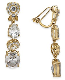 Mixed Crystal Linear Clip-On Earrings, Created for Macy's