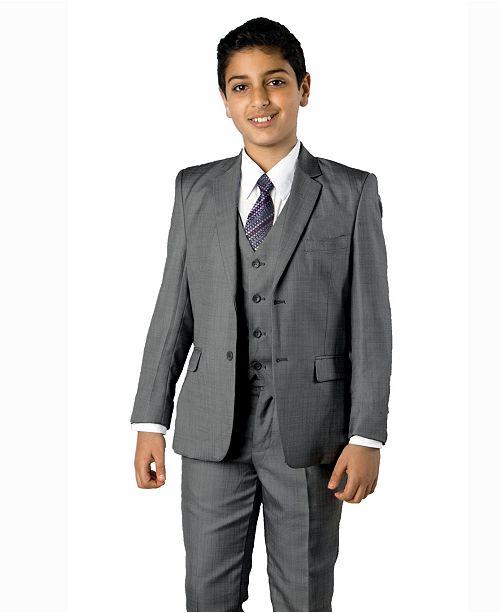 Tazio Solid Light 2 Button Front Closure Boys Suit, 5 Piece