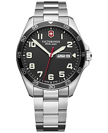 Victorinox Swiss Army Men's FieldForce Stainless Steel Bracelet Watch 42mm