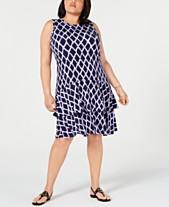 370e434070a7 MICHAEL Michael Kors Plus Size Printed Double-Flounce Dress