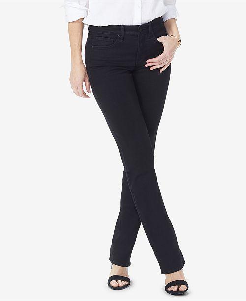NYDJ Petite Marilyn Tummy-Control Straight-Leg Jeans