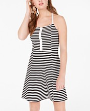 605a418775 American Rag Juniors' Striped Fit & Flare Dress, Created for Macy's