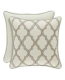 "J. Queen New York Vienna 18"" Square Decorative Pillow"