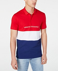 Men's Regular-Fit Colorblocked Logo-Print Polo Created For Macy's