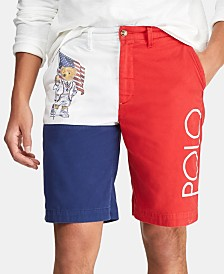 "Polo Ralph Lauren Men's Chariots 10"" Colorblocked Chino Shorts"