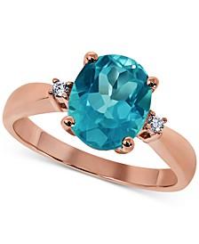 Paraiba Mystic Topaz (3 ct. t.w.) & Diamond Accent Statement Ring in 14k Rose Gold