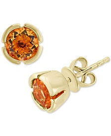 EFFY® Citrine Stud Earrings (1-1/2 ct. t.w.) in 14k Rose Gold