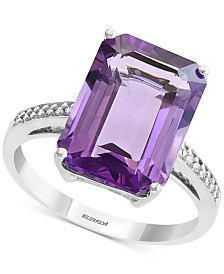 EFFY® Amethyst (6-3/8 ct. t.w.) & Diamond Accent Ring in 14k White Gold